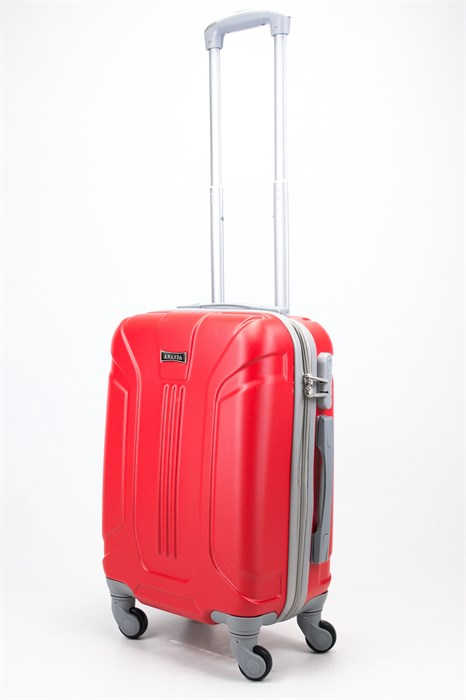 Чемодан маленький ABS Ananda (3 полосы) красный - фото 57815