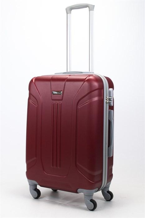 Чемодан средний ABS Ananda (3 полосы) бордовый - фото 57830