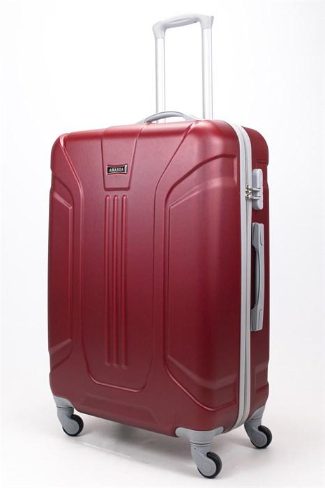 Чемодан большой ABS Ananda (3 полосы) бордовый - фото 57835