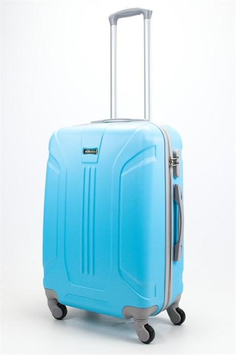 Чемодан средний ABS Ananda (3 полосы) голубой - фото 57845