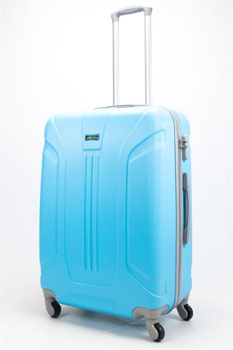 Чемодан большой ABS Ananda (3 полосы) голубой - фото 57855