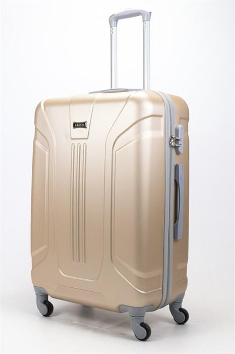 Чемодан большой ABS Ananda (3 полосы) золотой - фото 57860