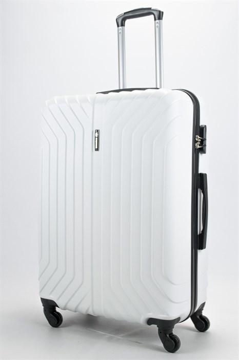 Чемодан большой ABS Корона (Лилия) белый - фото 58138