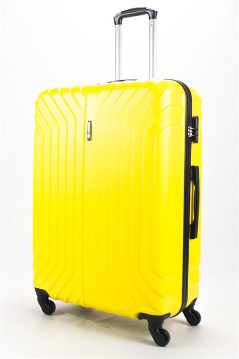 Чемодан большой ABS Корона (Лилия) желтый - фото 58143