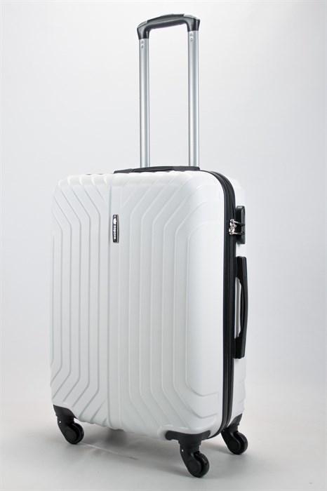 Чемодан средний ABS Корона (Лилия) белый - фото 58148