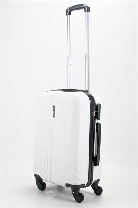 Чемодан маленький ABS Корона (Лилия) белый - фото 58158