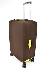 Чехол на чемодан средний коричневый