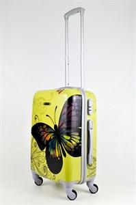 Чемодан маленький ABS пластик рисунок бабочка