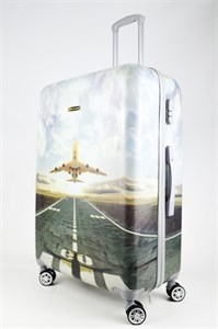 Чемодан большой ABS Корона самолет