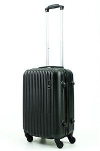 Чемодан маленький ABS TT (верт  полоски) черный