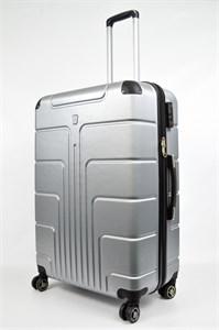 Чемодан пластиковый большой PC серебро  00150-У (уценка)