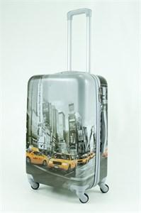 Чемодан средний ABS Рисунок Такси