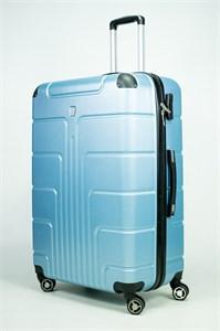Чемодан большой PC голубой металлик