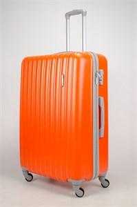 Чемодан большой ABS KK (верт полосы)  оранжевый  (СФ)