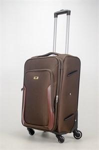 Чемодан текстильный средний TT коричневый