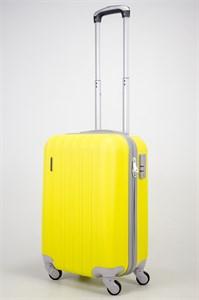 Чемодан маленький ABS Passion (7 верт. полос) желтый