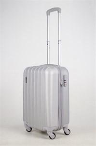 Чемодан маленький ABS Passion 7 верт.линий серебро