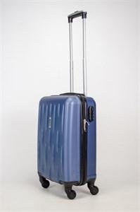 Чемодан маленький ABS OCCE (черточки) темно-синий ЧФ