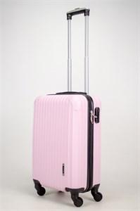 Чемодан маленький ABS OCCE (9 полос углы) розовый ЧФ