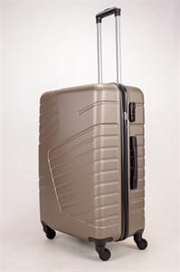 Чемодан большой ABS OCCE (вафли) коричневый ЧФ