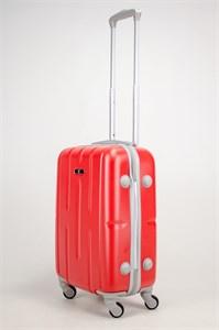 Чемодан маленький ABS KK (верт корот полос)  красный