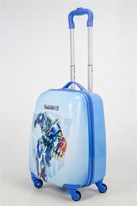 Детский чемодан PC на колесиках голубой 12990