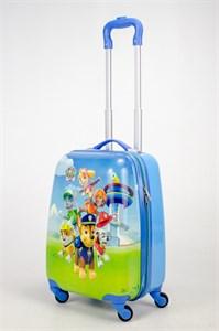 Детский чемодан PC на колесиках синий  12987
