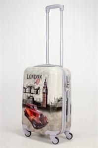 Чемодан маленький ABS Рисунок Лондон с машиной