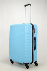 Чемодан большой ABS OCCE (вафли) голубой