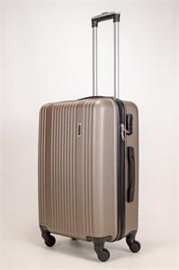 Чемодан средний ABS OCCE (15 полос) коричневый ЧФ