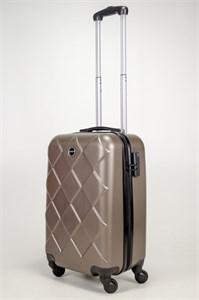 Чемодан маленький ABS Longstar (ромбики) коричневый