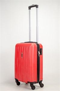 Чемодан маленький ABS OCCE (черточки) красный ЧФ