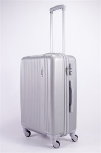 Чемодан средний ABS OCCE (15 верт полосы) серебро