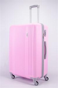 Чемодан большой ABS OCCE (15 полос) розовый