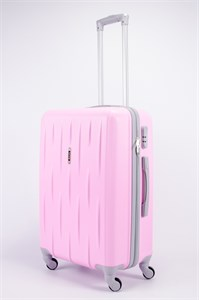 Чемодан средний ABS OCCE (черточки) розовый