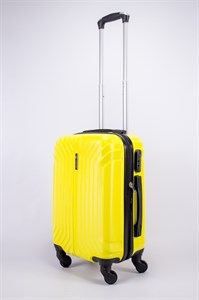 Чемодан маленький ABS Корона (Лилия) желтый