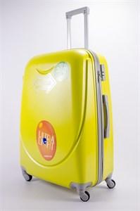 Чемодан большой ABS 360-гр smile желтый