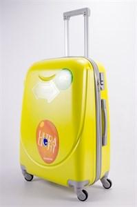 Чемодан средний ABS 360-гр smile  желтый