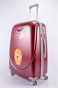 Чемодан большой ABS 360-гр smile  бордовый