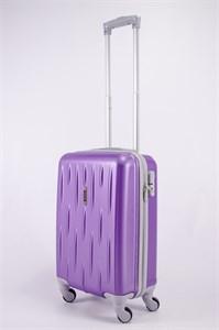 Чемодан маленький ABS OCCE (черточки) фиолетовый ЧФ