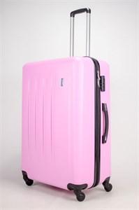 Чемодан большой Люида PC+ABS верт. полосы розовый (Уценка)