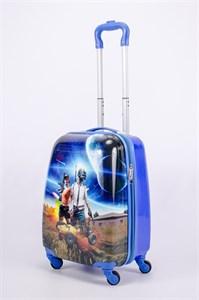 Детский чемодан PC на колесиках синий  13177