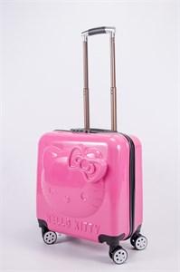"""Детский чемодан с объемным рисунком """"Kitty"""" розовый PC"""