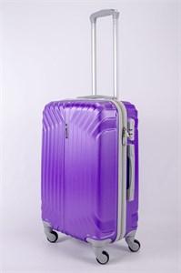 Чемодан средний ABS Корона (Лилия) фиолетовый СФ