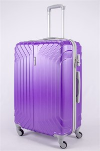 Чемодан большой ABS Корона (Лилия) фиолетовый ЧФ