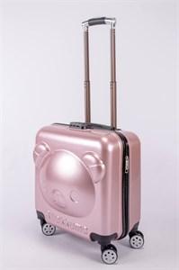 """Детский чемодан с объемным рисунком """"Мишка"""" лиловый PC"""