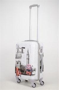 Чемодан маленький ABS Рисунок Эйфель/Такси/Автобус