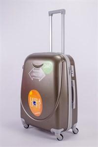 Чемодан средний ABS 360-гр smile  коричневый