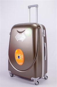 Чемодан большой ABS 360-гр smile  коричневый
