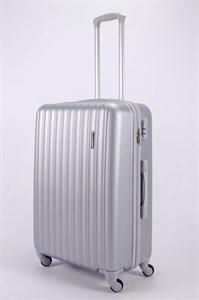 Чемодан большой ABS KK (верт  полосы)  серебро